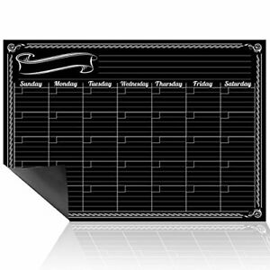 Dry Erase Monthly Planner Wall Calendar Decal Design For Use W Fluorescent