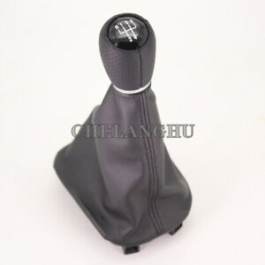 For Seat Toledo Mk1 2002 2003 2004 Black 5 Speed Gear Shift Knob Leather Boot