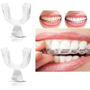 4x New Dental Teeth Corrector Mouth Guard Tooth Retainer Straighten Mouth Tray