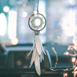Dream Catcher Car Charm Rearview Mirror Ornaments Car Interior Dreamnet Feather