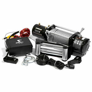 Speedmaster 13000lbs 5900kgs 12v Electric 4wd Winch Kit W Wireless Remote