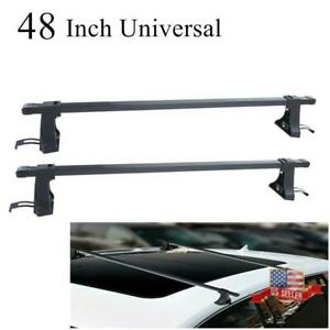 2pcs 48 Universal Roof Rack Cross Bar Luggage Cargo Carrier For 4 door Car Suv
