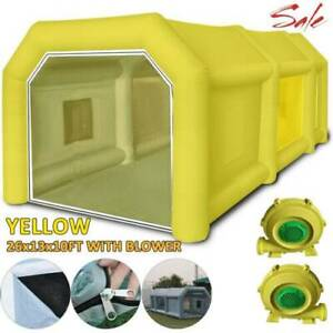 26x13x10ft Inflatable Spray Booth Paint Tent Portable Car Workstation Yellow New