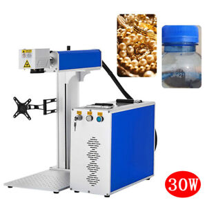 30w Fiber Laser Engraver Lazer Marking Machine With 80mm Rotary Axis 1500w Usa
