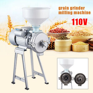 2200w Electric Grinder Machine Corn Grain Wheat Cereal Feed Wet Dry Mill 110v