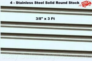 Stainless Steel Solid Round Stock 4 Lengths 3 8 X 3 Ft 316 Unpolished Rod