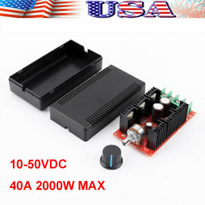 Dc Motor Speed Control Reversible Pwm Controller Regulator Switch 10 50v 40a Us