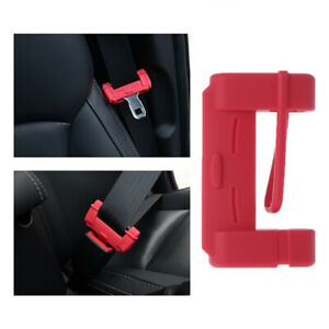 Red Car Seat Belt Buckle Clip Silicone Anti scratch Protector Cover Accessories