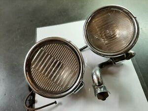 Pair Old Antique Vintage 1920s 1930 s Car Cowl Lights Cadillac Oldsmobile