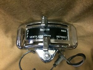 1949 1950 Ford Car Complete Original Dash Mounted Heater Control Assembly
