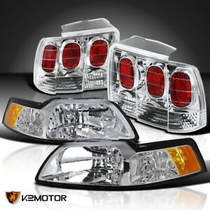 Fit 1999 2004 Ford Mustang Cobra Headlights brake Lamps Tail Lights Replacement