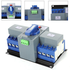 63a 4p Dual Power Auto Transfer Switch Generator Changeover Switch Cb Level 110v