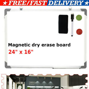 24 Inches White Board Magnetic Dry Erase Board For Wall Mounted For School Home