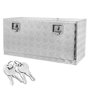 36 In Plate Aluminum Underbody Truck Tool Box Bed Tool Storage Cabinets Tools
