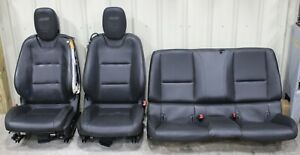 2010 2015 Chevrolet Camaro Ss Black Leather Seat Set Front Rear Used Gm 6
