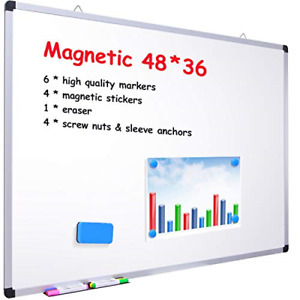 48 X 36 Dry Erase Board Ohuhu Magnetic Large Whiteboard white Board With 6 4