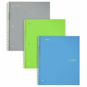 Five Star Spiral Notebooks 3 Subject College Ruled Paper 150 Sheets 11 X 8 1