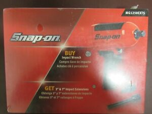 Snap On 3 4 Drive Impact Wrench With 2 extensions New