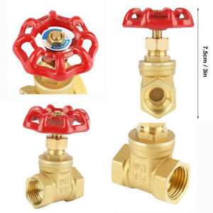 Dn15 Brass Gate Valve Bspp G1 2 Rotary Sluice Valve 232psi For Water Oil Gas