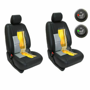 Carbon Fiber Universal Car Heated Seat Heater Kit 2 dial Switch