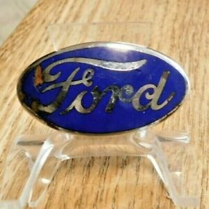 1930s Ford V8 Enamel Radiator Badge Nice Original