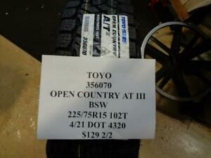 2 New Toyo Open Country At Iii Bsw 225 75 15 102t Tires 356070 Q1
