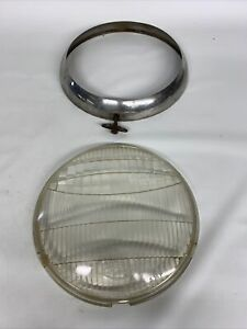 Ford Model A Twolite Headlight Headlamp Lens 8 And Trim Ring