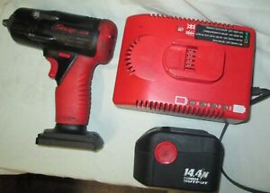 Snap On Ct4410 3 8 Drive Cordless 14 4 Volt Impact Wrench Batteries Charger