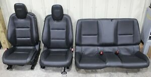 2010 2015 Chevrolet Camaro Ss Black Leather Seat Set Front Rear Used Gm 5