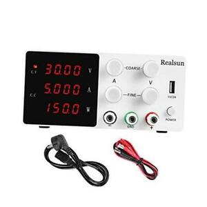 Dc Bench Power Supply Variable 30v 5a With 4 digital Led Display Precision