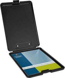 Plastic Storage Clipboard Offers A Sturdy Writing Surface Black Letter Size