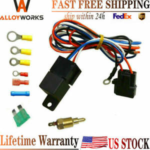 Electric Cooling Thermostat Relay Fan Kit Sensor Temperature Switch Wiring 1442