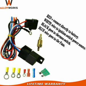 3 8 Electric Cooling Thermostat Relay Fan Kit Sensor Temperature Switch Wiring