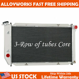 3 Row Radiator For Ford Gran Torino Thunderbird ranchero mark Iv 1972 1976