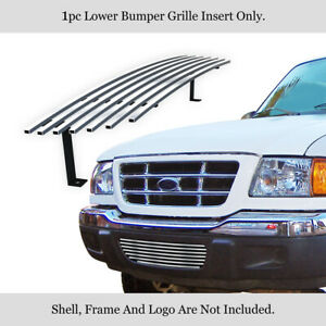 Fits 2001 2003 Ford Ranger 2wd Lower Bumper Stainless Grille Insert