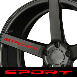 4 car Sport Style Rims Wheel Hub Racing Sticker Graphic Decal Accessories