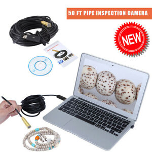 Pipe Inspection Camera Endoscope Video Sewer Drain Cleaner Waterproof 50ft