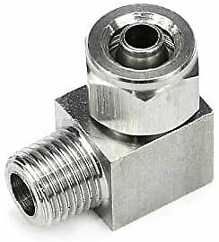 Stainless Steel 1 2 Npt Compression Fitting Elbow 6mm Od