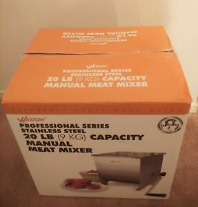 Weston Meat Mixer Manual 20 Lb Capacity Slip Resistant Stainless Steel 36 1901 w