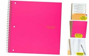 Spiral Notebook 1 Subject College Ruled Paper 100 Sheets 11 Bright Pink