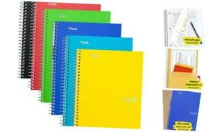 Spiral Notebooks 2 Subject College Ruled Paper 100 Pack Of 6 Assorted