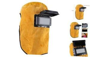 Welding Helmet Heat Resistant Breathable Welding Mask With Lens Leather Mask