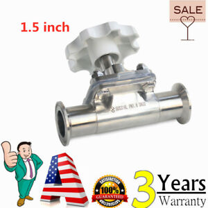 1 5 Sanitary Stainless Steel 316l Tri clamp Diaphragm Valve For Food Beverage