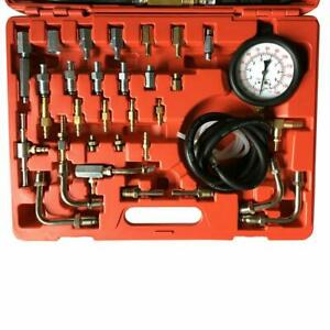 Complete Deluxe Fuel Injection Pressure Tester Gauge Kit Pump Tester 0 140psi