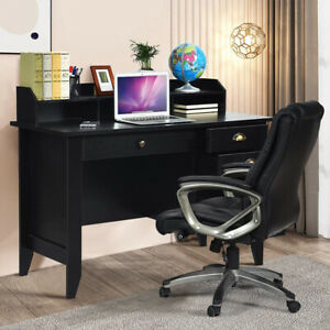 Computer Desk With 4 Drawers Hutch Home Office Desk Vintage Style Student Table