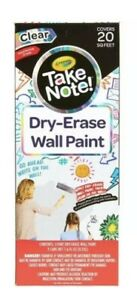 crayola Take Note Dry erase Wall Paint 20 Sq Ft Low Odor Imagination Canvas M1