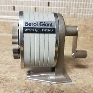 Vintage Berol Giant Apsco Standard 6 Hole Wall Desk Mount Pencil Sharpener Usa