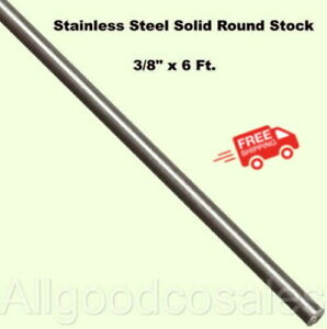 Stainless Steel Solid Round Stock 3 8 X 6 Ft 303 Unpolished 72 Long Rod