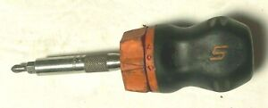 Snap On Sgdmrci 10 4 1 2 Ratcheting Magnetic Stubby Screwdriver