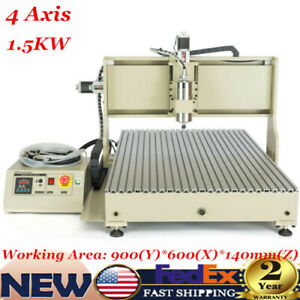 Usb Cnc Router 6090gz 4 Axis Engraver Engraving Machine Woodwork 1 5kw Vfd